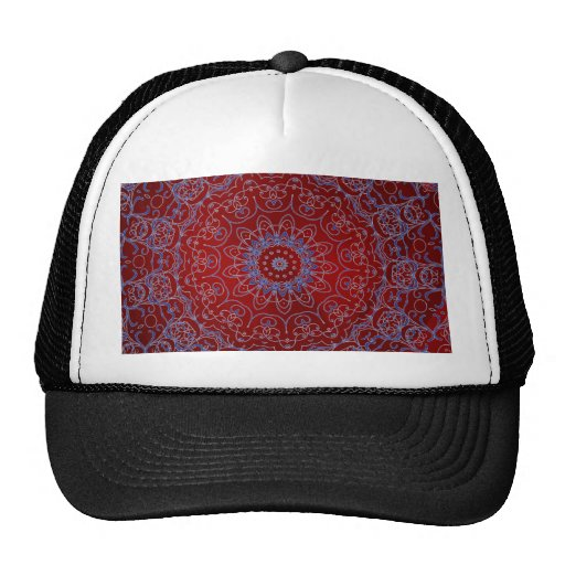 Red Hearts and Blue Lace Hat