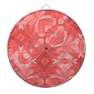 Red Hearts and Diamonds Dartboard