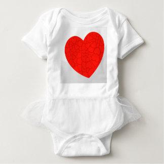 Red hearts baby bodysuit