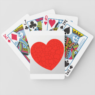 Red hearts bicycle playing cards
