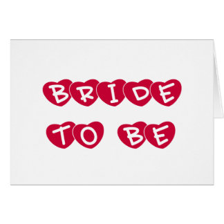 Red Hearts Bride to Be Cards