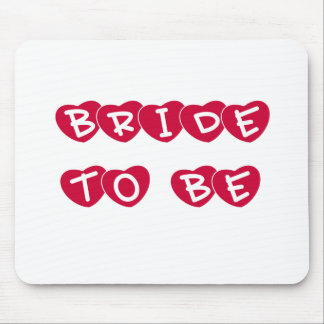 Red Hearts Bride to Be Mouse Pad