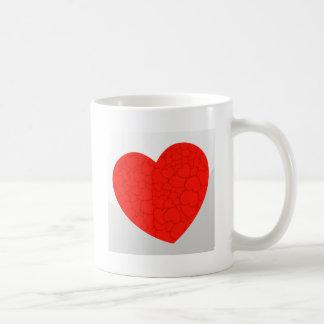 Red hearts coffee mug
