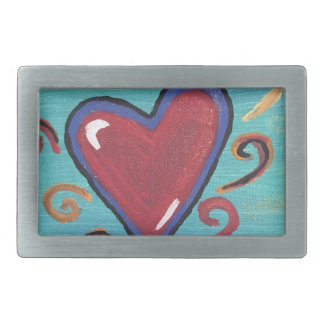 Red Hearts Collection Belt Buckle