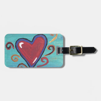 Red Hearts Collection Luggage Tag