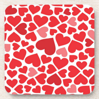 Red Hearts Coasters