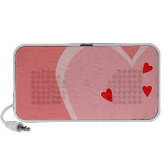 Red Hearts Doodle PC Speakers