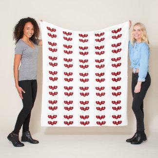Red Hearts Fleece Blanket by DAL