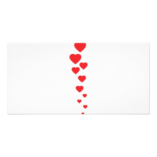 red hearts flying to heaven icon photo card template