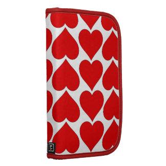 Red Hearts Folio For Smartphone Folio Planners