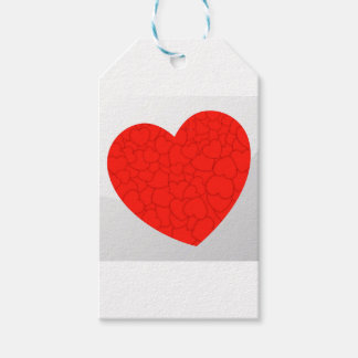 Red hearts gift tags