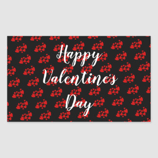 Red Hearts Happy Valentine's Day Sticker