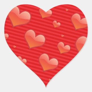 Red Hearts. Heart Sticker