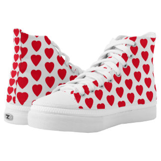 Red Hearts High Tops