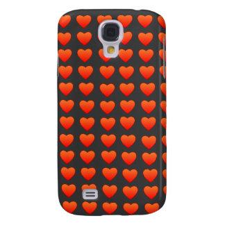 Red Hearts HTC Vivid phone case Samsung Galaxy S4 Case