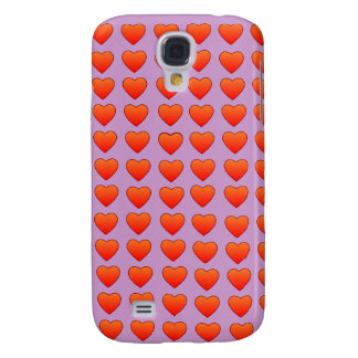 Red Hearts HTC Vivid phone case Galaxy S4 Cover