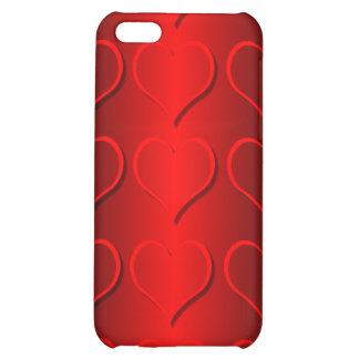 red hearts iPhone 5C covers