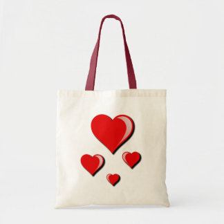 Red Hearts Love and Valentine's Day Bags