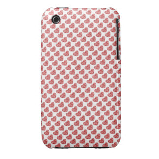 Red hearts love case iPhone 3 Case-Mate cases