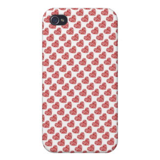Red hearts love case iPhone 4 covers