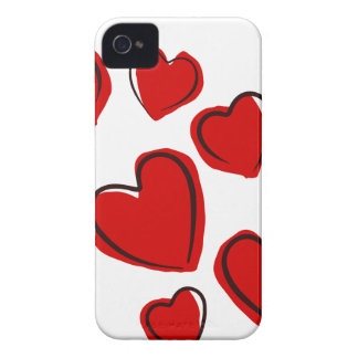 Red Hearts love cool iPhone 4 Covers