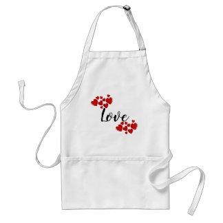 Red Hearts Love Custom Standard Apron