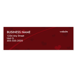 Red hearts mini business cards