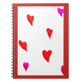 Red Hearts Notebooks
