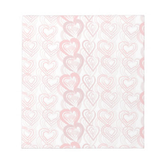 Red Hearts Notepad