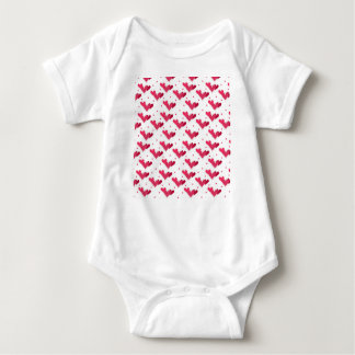 Red Hearts on White Infant Creeper Shirt