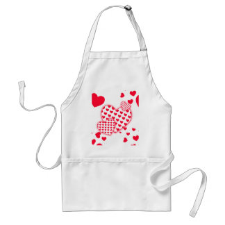 Red Hearts Patchwork Standard Apron
