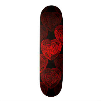 Red Hearts Pattern 21.3 Cm Mini Skateboard Deck