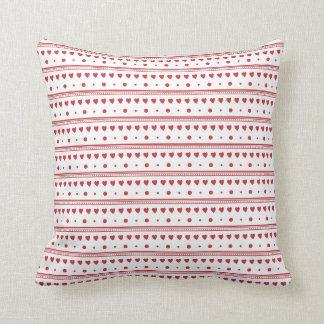 Red Hearts pattern  American Mojo Cushion/Pillo Pillow