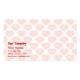 Red hearts pattern business card templates