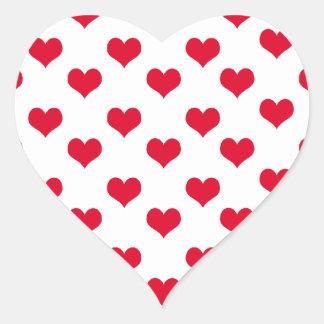 Red Hearts Pattern Heart Heart Sticker