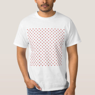 Red Hearts Pattern on a White Background. T-Shirt