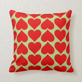 Red Hearts Pattern Pillow Cushion