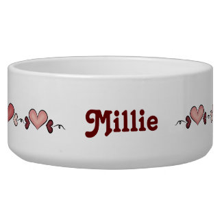 Red Hearts Pet Bowl