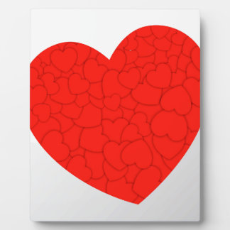 Red hearts plaque