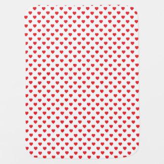 Red Hearts Polka Dot Pattern Pramblankets