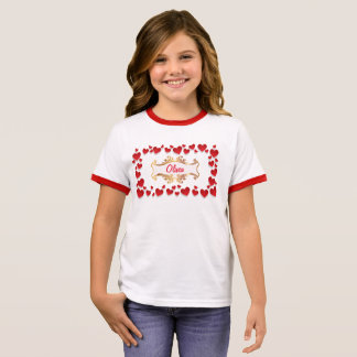 Red hearts ringer T-Shirt