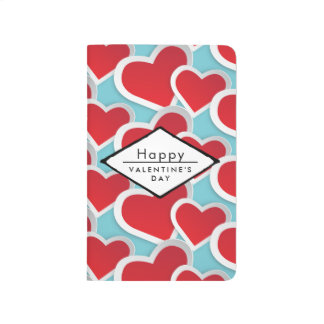 Red Hearts Romantic Valentine's Day Journal