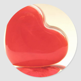 Red Hearts Round Sticker