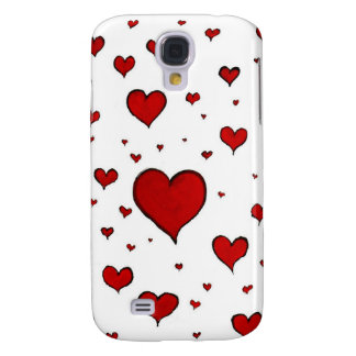 Red hearts samsung galaxy s4 cases
