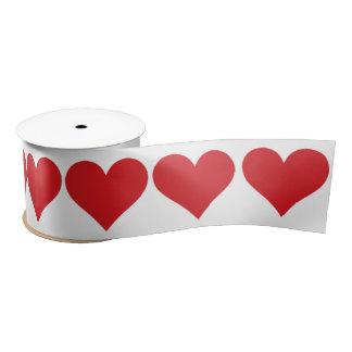 Red Hearts Satin Ribbon