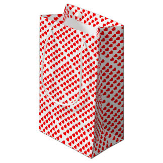 Red Hearts Small Gift Bag