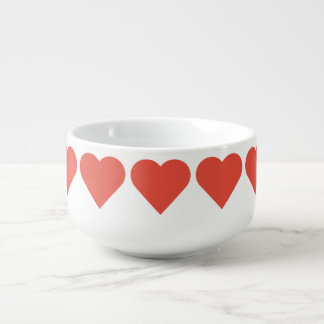Red Hearts Soup Bowl