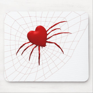 Red Hearts Spider Mousepad