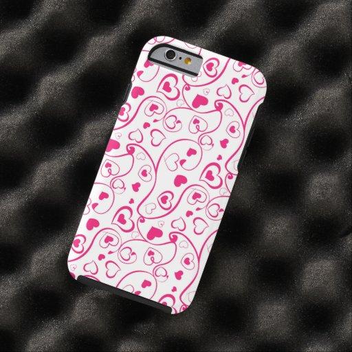 red hearts swirl vector art iPhone 6 case