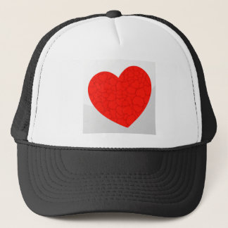 Red hearts trucker hat